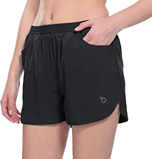 "BALEAF Women's 3"" Running Shorts Gym Athletic Shorts Pockets"