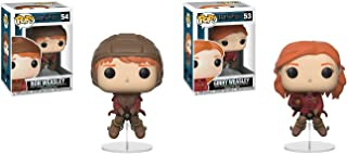 Funko POP Harry Potter: Quidditch Ron on Broom and Quidditch Ginny on Broom Toy Action Figure - 2 POP BUNDLE
