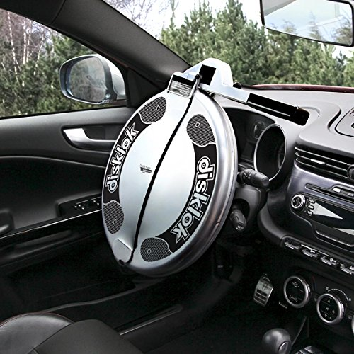 Disklok Security Device - Steering Wheel Lock - Full Cover - Silver - Thatcham Approved (Large, 16.4in - 17.3in)