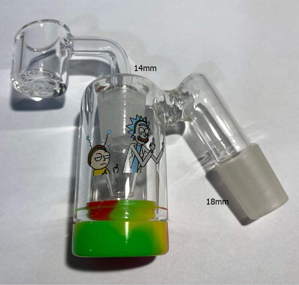 Can be reused 14mm 18mm Glass Collector and Silicone Container 18mm 90degree DLJ-WX