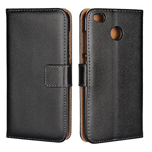 Copmob Xiaomi Redmi 4X Hülle,Klassisch Flip Brieftasche Ledertasche Handyhülle,[Multi-Kartenslot][Standfunktion][Magnetverschluss],Schutzhülle Handyhülle für Xiaomi Redmi 4X - Schwarz