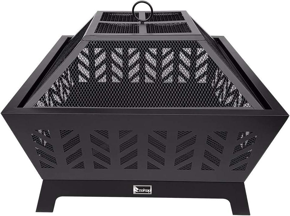 HSTD Fire Pit Heater Outdoor Baske Under blast sales Garden Brazier Patio Max 78% OFF