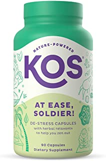 KOS At Ease, Soldier! Calm And Stress Relief Capsules - Relaxing Adaptogens, Anxiety Relief Supplement - Ashwagandha, Lion...