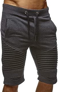 Mens Fashion Sport Shorts - Outdoor Jogger Shorts Harem Pants Solid Color Shorts for Summer