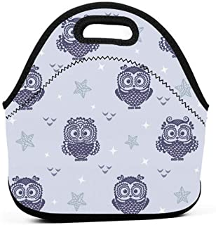 Owl Wallpaper 2_10511 Freezable Lunch Bag with Zip Closure