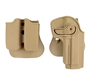 LTY M9 Holster,Tactical Retention Rotate Pistol Holster Magazine Pouch,for Beretta M92 96 M9 (Tan)