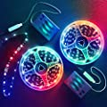 13.2FT Battery Powered Led Strip Lights,DIY RGB Color Changing Led Rope Lights Battery Operated. Integrated Controller. for Bedroom, Sports,Outdoors, Party,Costume and Dress up