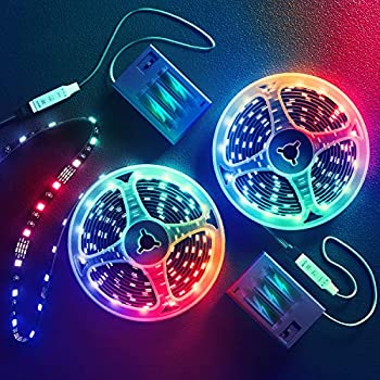 13.2 Feet Battery Powered Led Strip Lights,DIY Color Changing Led Lights Battery Operated Integrated Controller for Bedroom Sports,Outdoors Party,Costume and Dress up