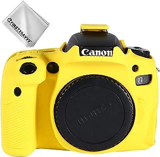 Amarillo Cuerpo Completo Caucho de TPU Funda Estuche Silicona para cámara para Canon EOS 77D E0S 9000D