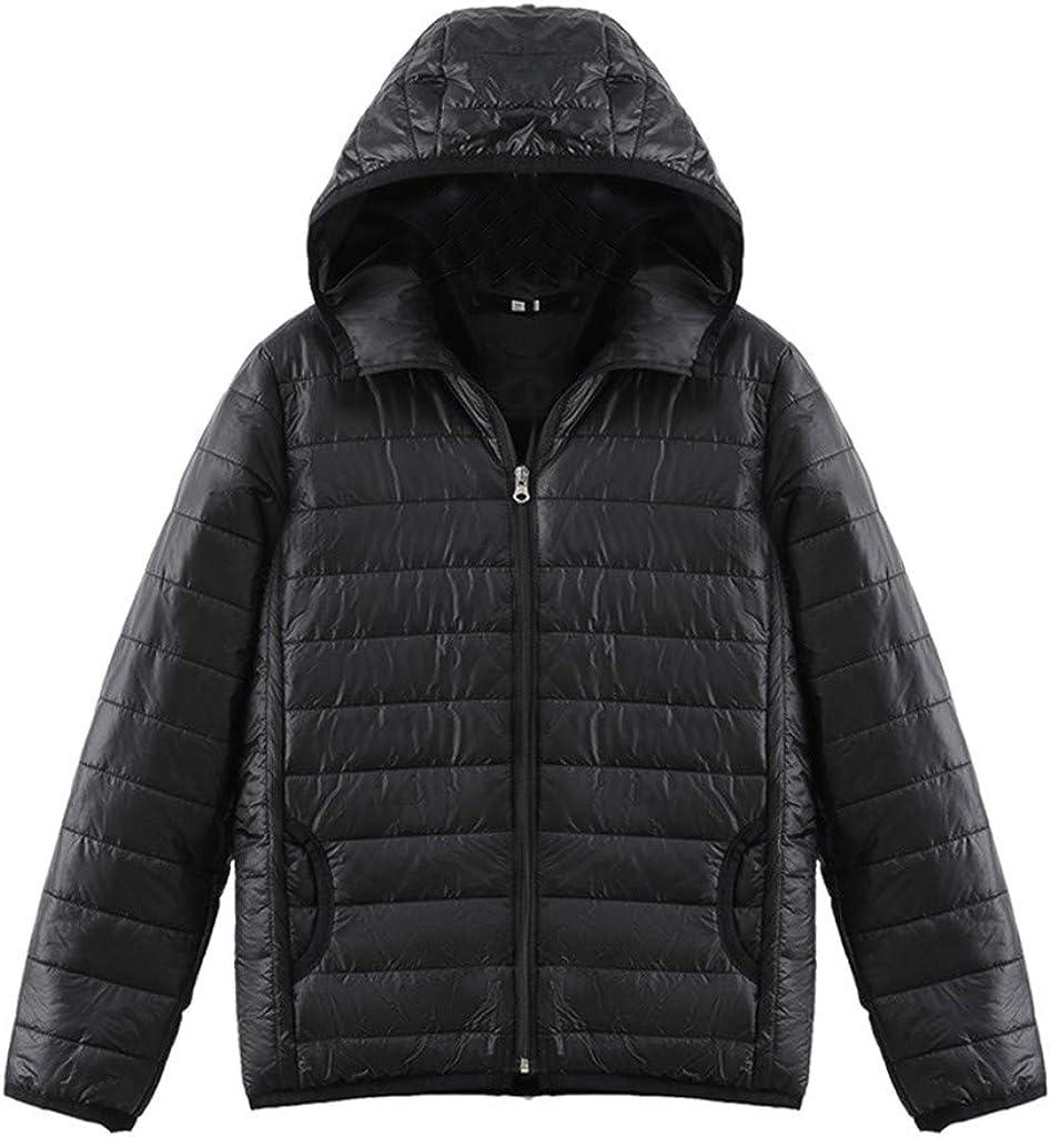 NRUTUP Winter Jacket Lightweight Women Plus Size Packable Jacket Padded Windbreaker Casual Zipper Ladies Outwear