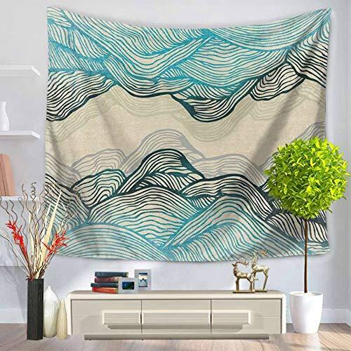 AdoDecor Colorful Pattern Tapestry Mountain Art Pattern Mandala Tapestry Wall Hanging Tenture Murale Blanket 150x150cm