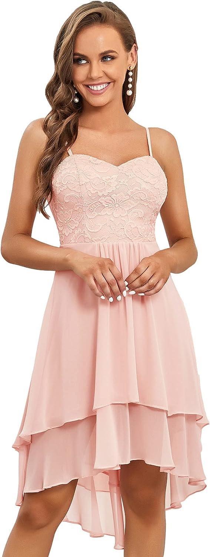 Ever-Pretty Spaghetti Straps V Neck Chiffon Short Wedding Dresses for Women 0390