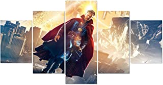 FUNHUA 5 Piece HD Printed Doctor Strange Movie Poster Room Decor Poster Painting Canvas Print Wall Art Unframed