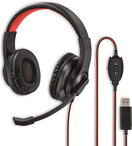 Hama Usb Headset Over Ear Kopfhörer Mit Mikrofon Elektronik