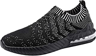 Yamall Mens Lightweight Athletic Walking Casual Sneakers Lace-Up Running Sports Shoes