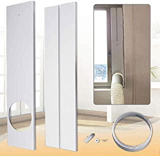 Window Kit Vent Kit, Window Seal for Portable Air Conditioner, Plastic AC Vent Kit for Sliding Glass Doors and Windows, Adjustable Length Panels for Exhaust Hose, Window Slide Kit Plate Panel