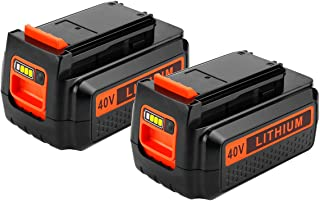 Upgraded Energup 2500mAh 40 Volt MAX Replacement Battery for Black&Decker LBX2040 LBX36 LBXR36 LBXR2036 Black and Decker 40V Lithium Ion Batteries (2 Pack)
