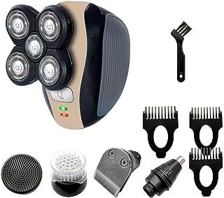5 en 1 afeitadora eléctrica para barba, afeitadora, kit de carga USB, nariz, recortadora de cabello, recortadora