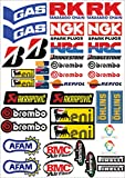 Adhesivos stickers, kit de 2 para motos de motocross, panel entero de 40 unidades