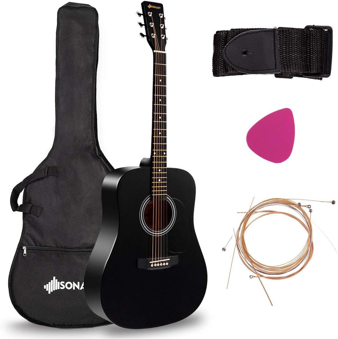 Mail order Sonart 41'' Full Size Beginner Cus Professional Guitar Acoustic Max 67% OFF