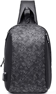 DKEE Outdoor Backpack Mochila De Moda for Hombres Bolso Impermeable for El Hombro Bolso Liviano Multifuncional Bolsa Diago...