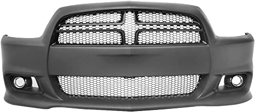 IKON MOTORSPORTS | Front Bumper Lip Compatible With 2011-2014 Dodge Charger | SRT8 Style Hellcat Conversion Front Bumper Cover - PP | 12 13 2012 2013