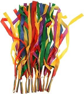 BESTOYARD Rhythm Ribbon Dance Rainbow Ribbon Dance Ribbon 12PCS