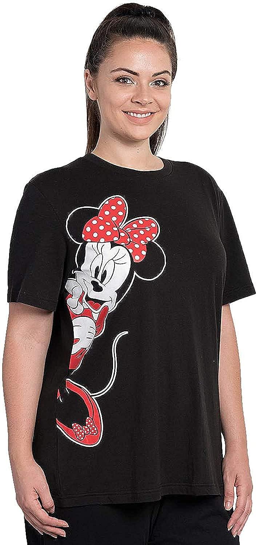 Disney Womens Plus Size T-Shirt Minnie Mouse Print