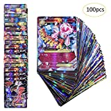 Anivia Jeux De Cartes 100 Pcs Pokemon Cartes Style TCG Holo EX Full Art 59 Cartes EX...