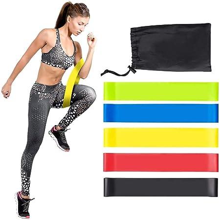 TXG Bandas de Resistencia Ejercicio para Ejercicio en Casa o Gimnasio,Ligas Elasticas 100% Látex Natural,Yoga y Fitness