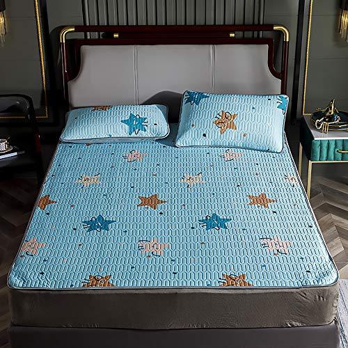 MKMKT Matratze, dreiteilige hochwertige Latexmatte, waschbare, Faltbare Latexmatte, einzelne Doppelmatratze, Bettwäsche,Lx06,180x200cm