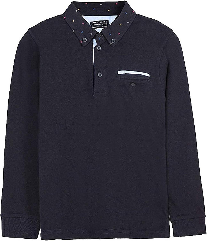 Mayoral - L/s Polo for Boys - 7124, Deep Blue