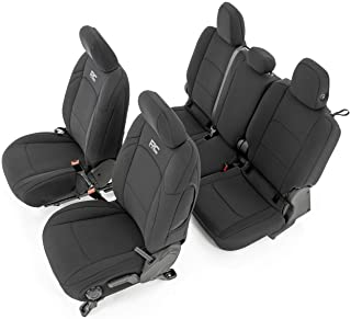 Rough Country Neoprene Seat Covers for 2020 Jeep Gladiator JT w/o Cup Holder - 91034, Black