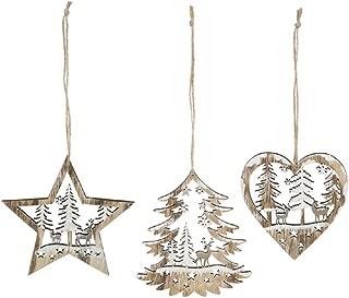 Ganz Laser Cut Ornaments Set of 3 Assorted