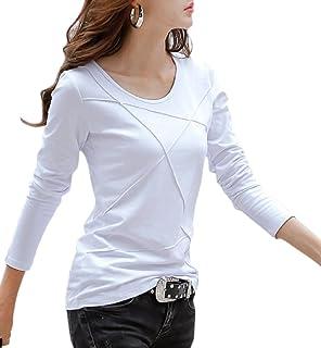 [ルナー ベリー] カットソー 半袖 長袖 Tシャツ パイピングデザイン 2タイプ レディース 3203