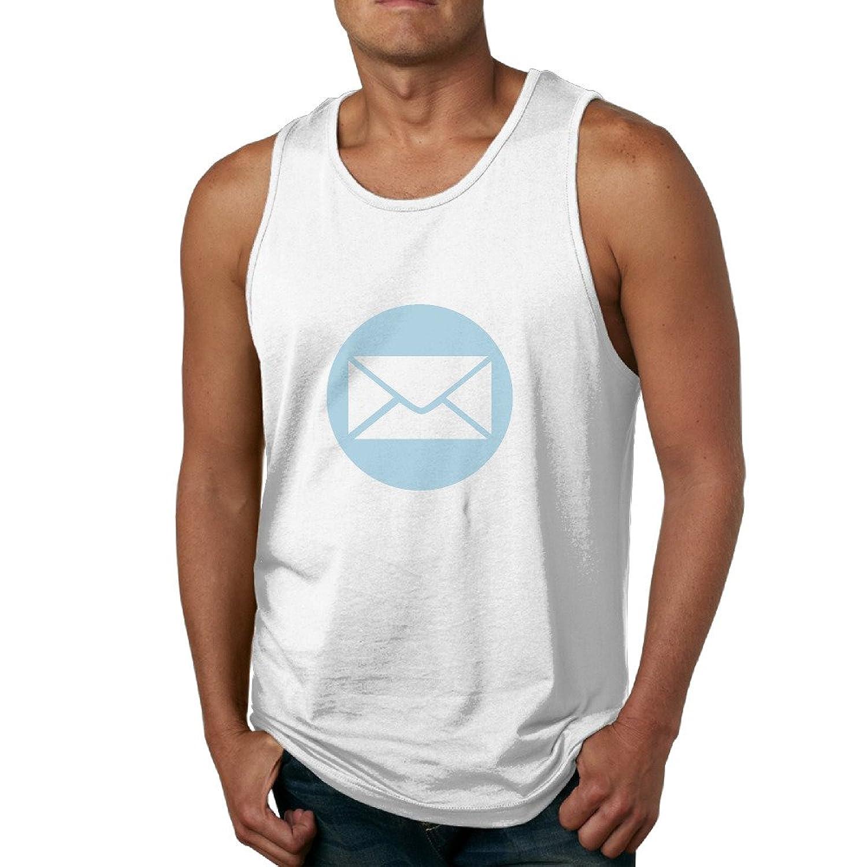 メンズ かわいい 電子メール デザイン ベスト カジュアル White