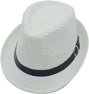 afe6ca7e666c6 JEEDA Panama Style Summer Beach Sun Jazz Cap Unisexe Adulte Chapeau Solaire  Couleur Unie Élégant Straw