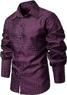 Elegeet Men's Fashion Pirate Vintage Scottish Wide Cuff Button Down Plaid Shirt Costume