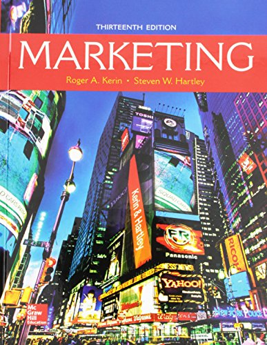 Compare Textbook Prices for Marketing - Standalone book 13 Edition ISBN 9781259573545 by Kerin, Roger,Hartley, Steven