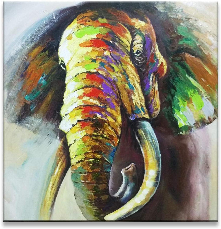 punto de venta en línea Puro Pintado A Mano Bricolaje Pintura Tridimensional Tridimensional Tridimensional Pintura Al óleo Animal Pintura Sala De EEstrella En Casa Dormitorio Entrada Hotel Arte Decoración Elefante 120X120Cm  ¡envío gratis!