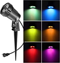 Ourleeme Lawn Flood Light Stake, 2-in-1 Waterproof Outdoor Remote controlle Landscape Lighting Spotlight Wall Light for Yard Garden Driveway Pathway Pool