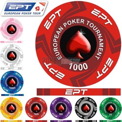 Fiches Ceramica EPT Valor 1000 - Blíster de 25 fichas