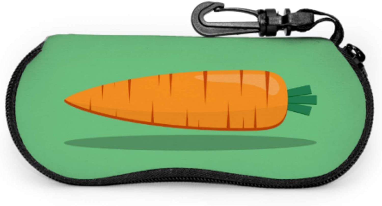 Set Of Colorful Carrot Slim Glasses Case Eyeglass Cases For Teens Light Portable Neoprene Zipper Soft Case Sunglass Soft Case