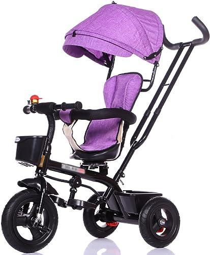 tienda de venta en línea Triciclos- Niños 3 Bicicleta de la Bici de la la la Rueda 1-5 años de Edad Carro de los bebés de los bebés con el Asiento Giratorio para los Niños (Color   púrpura)  Hay más marcas de productos de alta calidad.