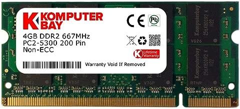 Komputerbay 4GB DDR2 667MHz PC2-5300 PC2-5400 DDR2 667 (200 PIN) SODIMM Laptop Memory