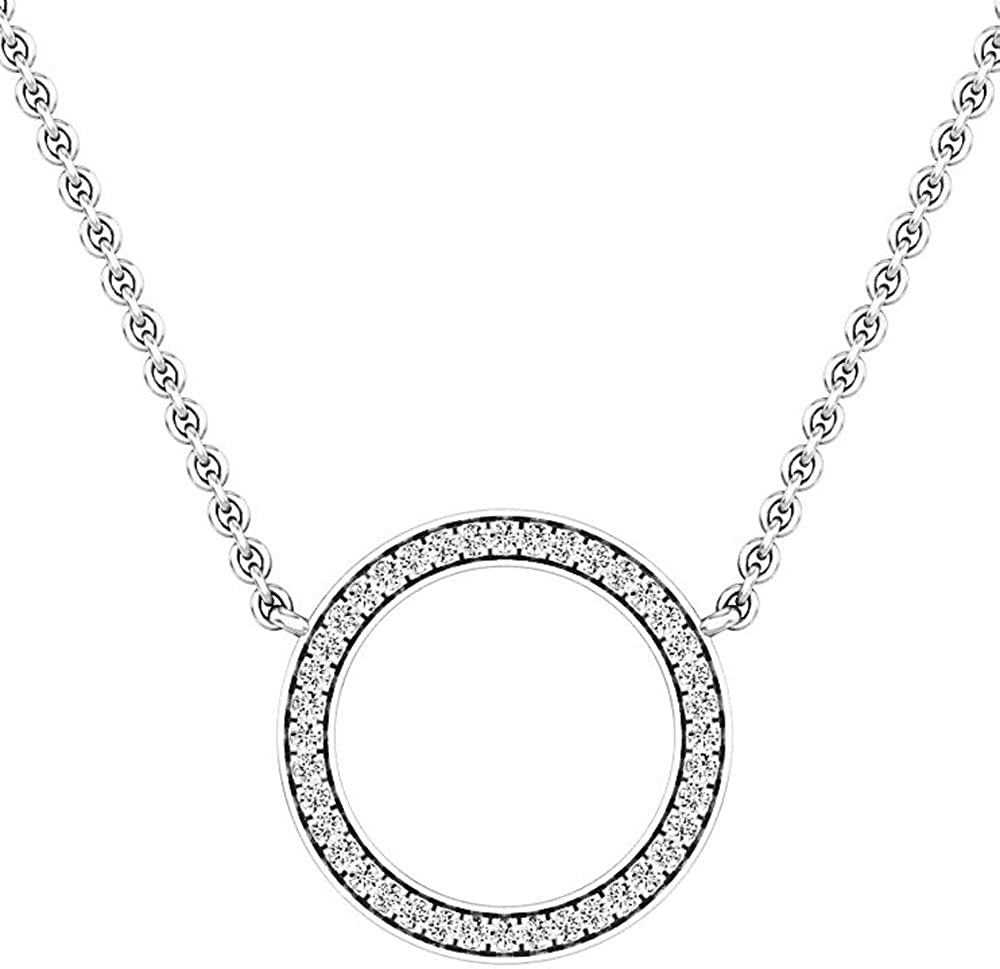 Dazzlingrock Collection Sterling Silver Black Color Enhanced Diamond Infinity Love Pendant Necklace 1//12 ctw