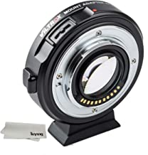 TUYUNG EF-M2II Lens Mount Adapter Ring Auto Focus 0.71X for M4/3 Series Cameras for Panasonic GH5 GH4 GX85 G3 and Olympus E-M10 E-PL7 Pen-F E-PM2 E-P3