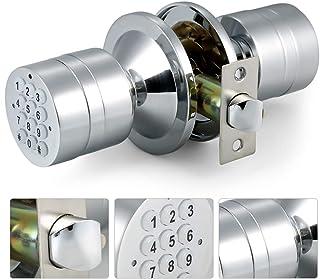 デジタルドアロック 握り玉錠 着脱サムターン付 玄関 引き戸 暗証番号 ボタン錠後付け型 補助錠 デジタルロック