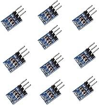 Anmbest 10 Pack 3 Pins AMS1117-3.3 DC 4.75V-12V to 3.3V Voltage Regulator Step Down Power Supply Buck Module 800mA