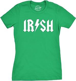 Womens Irish Rockstar Funny Saint Patricks Day Shamrock St Shenanigans T Shirt